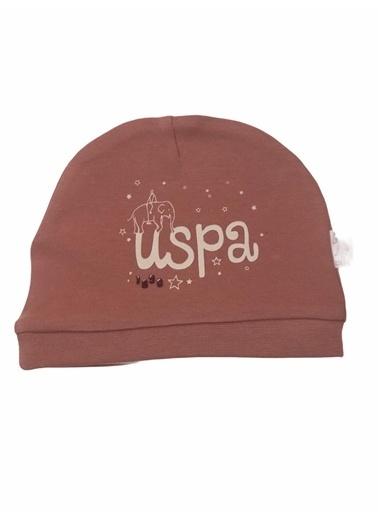 U.S. Polo Assn. Lisanslı  Vanilya Bebek Şapka Pembe